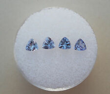 4 Tanzanite Trillion Natural Loose Faceted Gems 4mm each