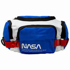 NASA Red White and Blue Fanny Pack White