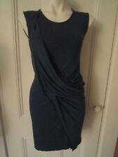 AllSaints Sleeveless Teal Blue Draped Jersey Amelia Dress Sz UK 4 US 0