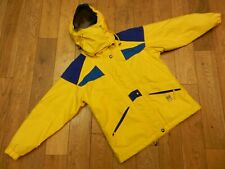 SCHOFFEL GORE-TEX INSULATED JACKET WATERPROOF MOUNTAIN PARKA YELLOW/BLUE SIZE:36