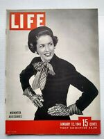 Life Magazine January 12 1948 Midwinter Accessories 1940s Fashion