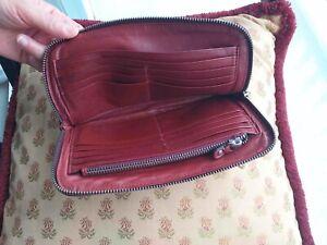 Petit sac, Pochette, Porte feuille, Porte Monnaie Sequoia, cuir de vachette Bord