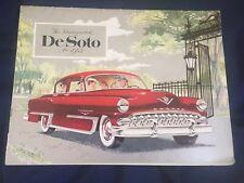 1953 DeSoto Powermaster 6 Firedome Hemi V8 Full Line Brochure Catalog Prospekt