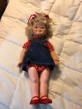 Vintage 1972 Kenner Productions Gabbigale Blonde Girl Large Doll Navy Dress