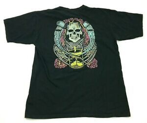 Krew Borrowed Time Shirt Men's Size Large L Black Short Sleeve Graphic Adult Tee