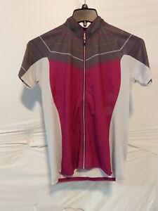 Louis Garneau River Run Cycling Jersey Women's XL Candy Purple/Iron Gray