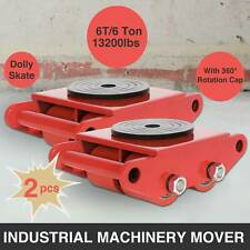 3x3 Heavy Duty Machine Dolly Skate Machinery Roller Mover Cargo Trolley 6 Ton x2