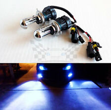H4 9003 10000K Deep Blue AC 35W Bi-Xenon H/L HID Replacement Bulbs Dual Beam
