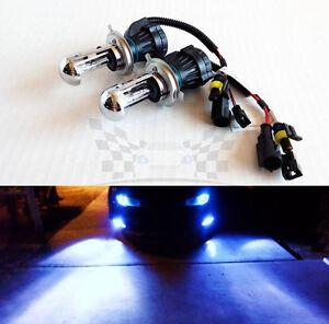 H4 9003 10000K Deep Blue AC 35W Bi-Xenon H/L HID Replacement Bulbs Dual Beam