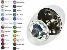 8.5mm Wedding Multicolor Crystal Tie Lapel Tack Pin made with SWAROVSKI ELEMENTS