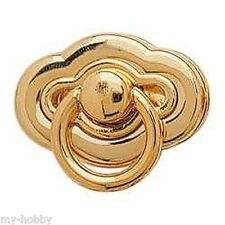 Scalloped Oval Bag Clasp - Gold Plated - Tandy Leather Factory #1304-04