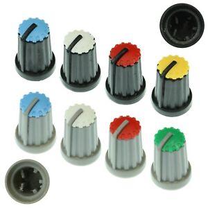 8 Colours D-Shaft 270° Plastic Pot Knobs for 6mm Potentiometer / Rotary Encoder