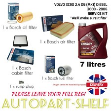 VOLVO XC90 2.4 D5 03-06 BOSCH SERVICE KIT DIESEL WITH 7 LITRES ENGINE OIL