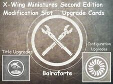 X-Wing Miniatures Modification, Configuration, and Title upgrade card singles