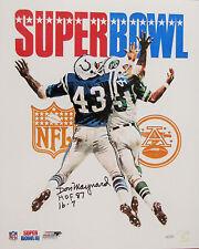 Don Maynard Signed Super Bowl III Program 16x20 NY Jets Hall of Famer Score Insc