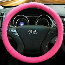 MASADA Premium Silicone Car Steering Wheel Cover (Pink) - One size fits all