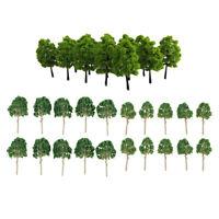 40x Green Model Trees 1:100 HO Scale Mini Landscape Railraod Scenery Layout