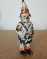 Vintage Reproduction Creepy little Clown Cast iron moneybox Piggy Bank 14 cm's