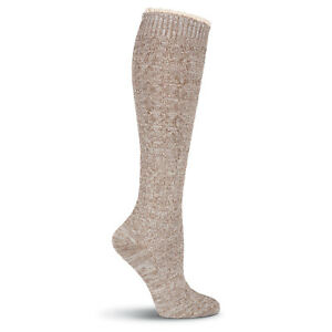 K.Bell Petite Lace Top Beige Knee High Acrylic Polyester Blend Socks Ladies New