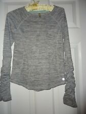 90 Degres Girls Long Sleeve Gray And White Top Shirt Size Large 12