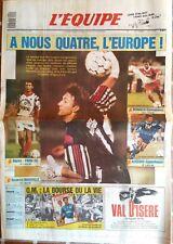 L'Equipe Journal 21/10/1992; Coupe Euro; OM, Auxerre, Monaco, Psg rescapé