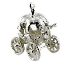 STERLING SILVER OPENING LARGE CINDERELLA'S PUMPKIN COACH CHARM