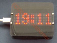 Programmable Big Size Clock m. Dot Matrix Display, Digital Uhr Bausatz, DIY Kit