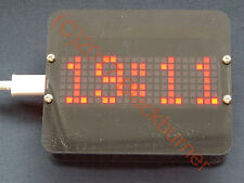 Programmable Big Size Clock m. Dot Matrix Display, Digital Uhr Bausatz, DIY Kit