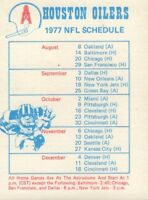 1977 Houston Oilers Football Schedule jhxb