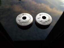 Specialities TA dust caps for vintage crankset 23mm silver plastic repro