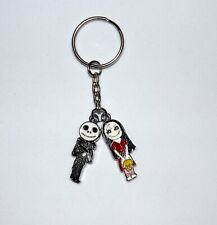 CARTOON JACK & SALLY SKELLINGTON NIGHTMARE BEFORE CHRISTMAS KEYRING