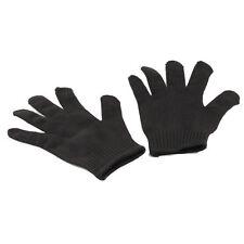 1pair Black Stainless Steel Wire Safety Works Anti-slash Cut Resistance Glove G#