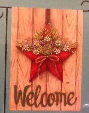 """Small 12 1/2"""" x 18"""" Welcome Spring Summer Garden Art Flag New In Package"""