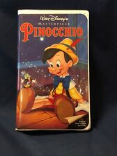 "WALT DISNEY  PINOCCHIO  VHS  MASTERPIECE COLLECTION  1993  VINTAGE 239 ""RARE"""