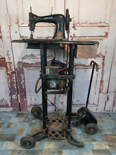 RARE Vintage Industrial Antique Singer Sewing Machine Trolley Stand Treadle WW2
