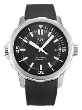 IWC IW329001 Schaffhausen Aquatimer Black Dial Black Rubber Men Watch New in Box