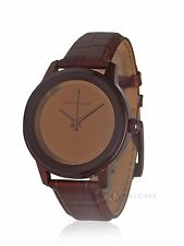 NEW WOMENS MICHAEL KORS (MK2457) KINLEY COPPER BROWN LEATHER STRAP WATCH SALE!