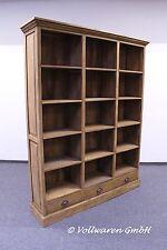 TEAK KONTOR BÜCHERREGAL 210x165 Teakholz antik Bibliothek Regal Bücherschrank