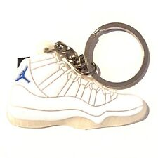 AIR JORDAN XI 11 LEGEND BLUE WHITE CONCORD SNEAKERS SHOES KEY CHAIN RING HOLDER