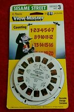 Sesame Street's Count Counts! 3 Reel View Master Packet  UNOPENED Packet! 1982