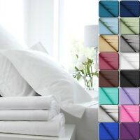 Deep Pocket 4 Piece Bed Sheet Set Solid Color Sheets Egyptian Comfort 1800 Count