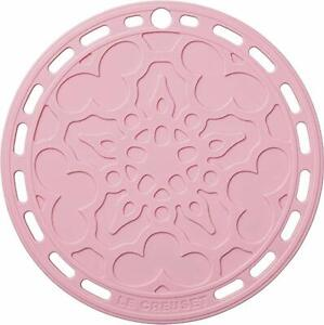 New Le Creuset Silicone FRENCH TRIVET pot stand plate Powder Pink