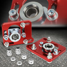 FOR 94-04 FORD MUSTANG +/- 2.5 ADJUSTABLE ALIGNMENT CAMBER CASTER PLATES RED