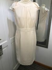 MARKS AND SPENCER Cream Pencil Dress Uk Size 12 Special Occasion Work Wear