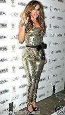 NWT bebe top black belt gold sequin sparkle strapless romper jumpsuit XS 0 2