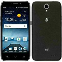 "ZTE Maven 3 z835 AT&T Unlocked GSM 4G LTE 8GB Android 5"" Smartphone Black OB"