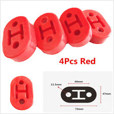 Red 4Pcs 11.5mm Polyurethane Car Truck Motorbike Muffler Exhaust Hangers Bracket