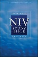 Zondervan NIV Study Bible, Large Print by Barker, Kenneth L. (Hardcover)