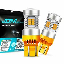2x 7443 7440 7441 992 Amber Yellow 21 SMD Turn Signal LED Light Bulbs T20 CANBUS