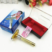 Mens Safety Classic Traditional Double Edge Shave Shaving Hair Razor + 1x Blade